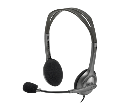 Picture of HEADSET LOGITECH H111 with microphone