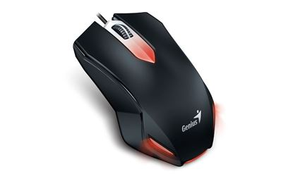 Picture of MOUSE GENIUS X-G200 USB RED BLACK