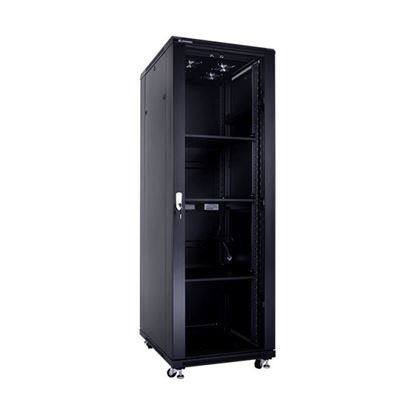 Picture of CABINET 37U W600*D800/H1800 GLASS DOOR/SIDE PANELS/FAN