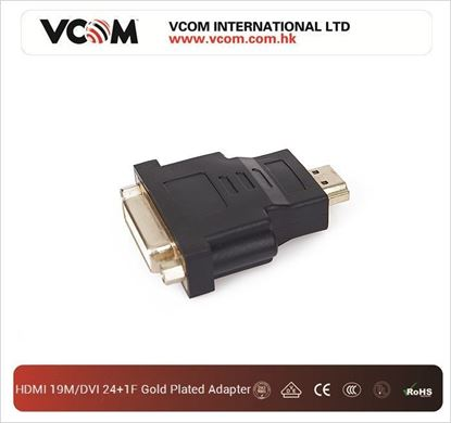 Picture of ADAPTOR HDMI 19M/DVI 24+1F GOLD PLATED