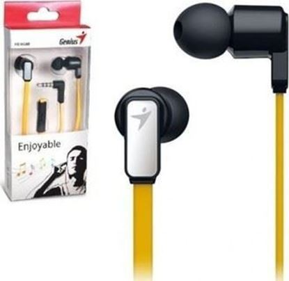 Picture of EARPHONE GENIUS HS-M260 + MIC GOLD + YELLOW