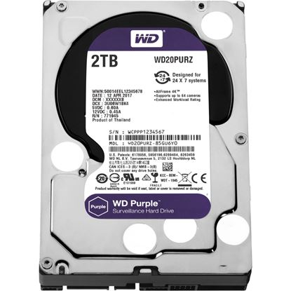 Picture of HARD DISK 2 TB SATA WD AV 64MB PURPLE