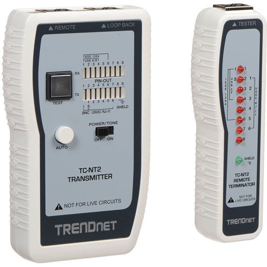 Picture of TESTER TRENDNET TC-NT2 TP & COAX CABLE TESTER