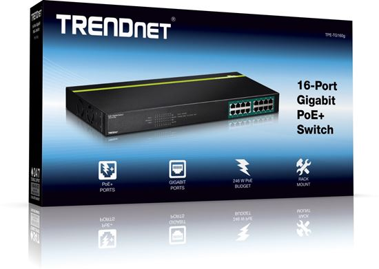 Picture of POE SWITCH TPE-TG160G 16-PORT GIGABIT POE+ (250W)