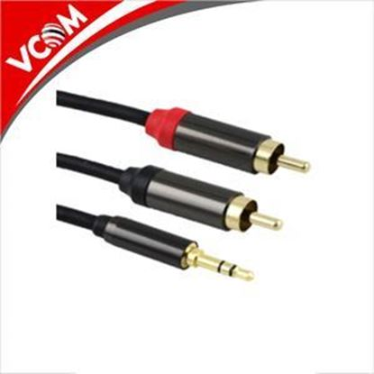 Picture of VCOM ADAPTOR 3.5ST M/2 RCA F