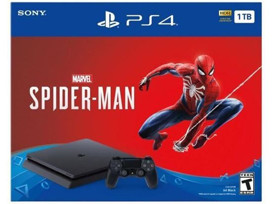 Picture of PLAYSTATION PS4 1TB F CHASSIS BLK+MARVELS SPIDER MAN