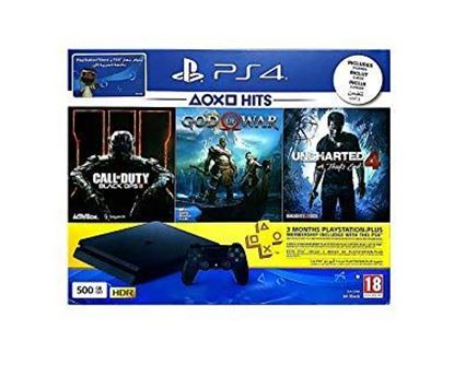 Picture of PLAYSTATION PS4 500GB WITH 3 GAMES CALL OF DUTY/GOD OF WAR/UNCHARTED 4