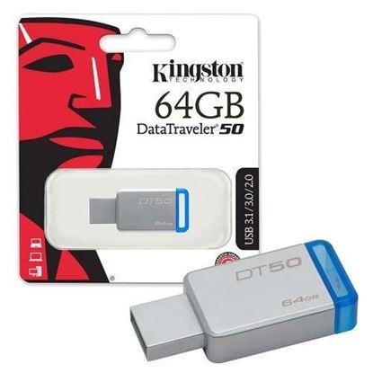 Picture of USB FLASH DATA TRAVELER 64GB DT50/64GB KINGSTON
