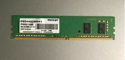 Picture of RAM 4 GB DDR4 UDIMM 2400MHZ PATRIOT PC4-19200 CL17 1.2V