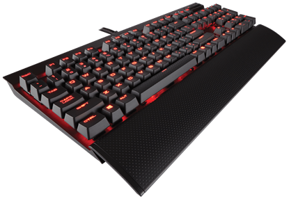 Picture of KB CORSAIR GAMING K70 LUX MECHANICAL RED LED-CHERRY MX RED